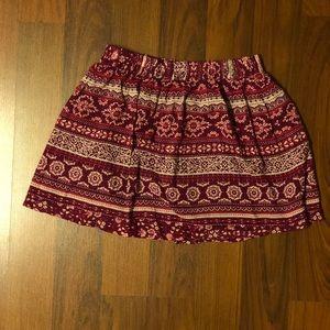 Forever21 F21 Floral Print Skirt